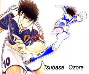 Tsubasa Ozora is Captain Tsubasa, the captain of the Japanese football team puzzle