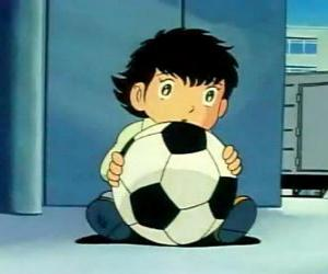 Tsubasa Ozora, Oliver Hutton, a Japanese child that is a great football fan puzzle