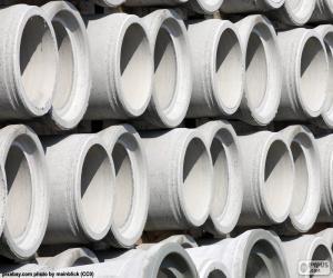 Tubes of concrete puzzle