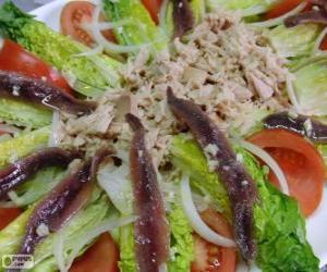 Tudela lettuce hearts salad puzzle