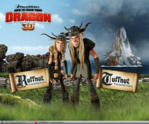 Tuffnut and Ruffnut Thorston, brother and sister twins, thugs with evil intentions puzzle