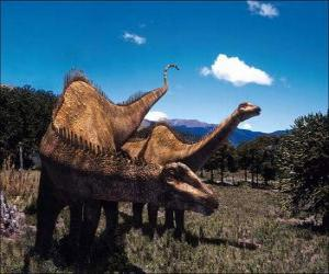 Two dinosaurs on the landscape puzzle