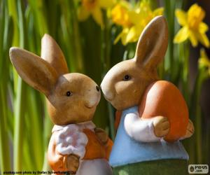 Two Easter rabbits puzzle