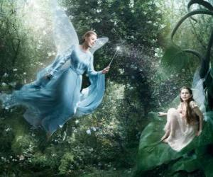 Two fairies in the forest puzzle