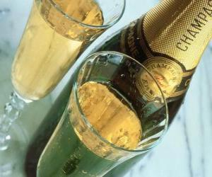 Two glasses of Champagne puzzle