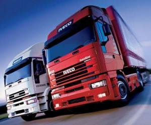 Two Iveco trucks puzzle