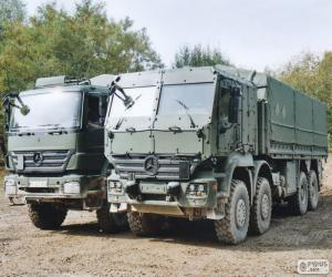Two military trucks puzzle
