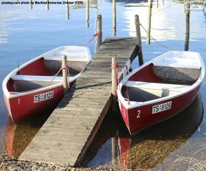 Two rowing boats puzzle