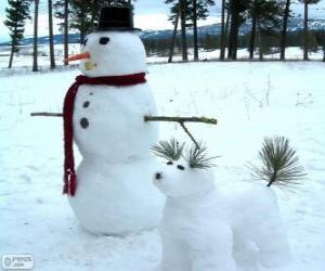 Two snowmen puzzle