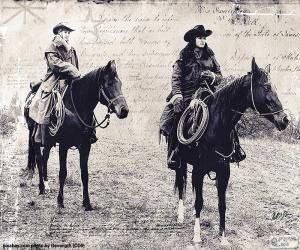 Two women cowboy puzzle
