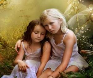 Two young fairies puzzle