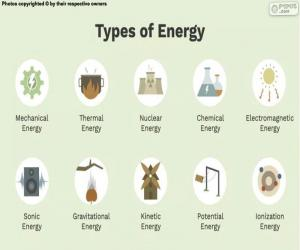 Types of energy puzzle