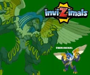 Überjackal. Invizimals. Powerful and enormous creature that has the power of magic puzzle