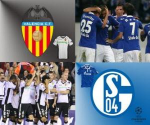 UEFA Champions League Eighth finals of 2010-11, Valencia CF - FC Schalke 04 puzzle