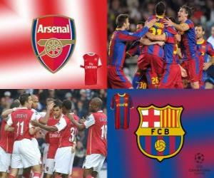 UEFA Champions League Eighth finals of 2010-11, Arsenal FC - FC Barcelona puzzle