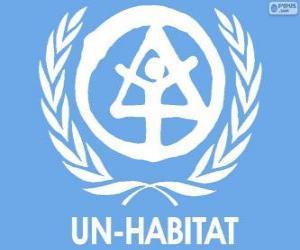 UN-HABITAT logo, United Nations Human Settlements Programme puzzle