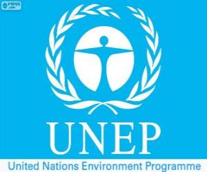 UNEP logo, United Nations Environment Programme puzzle
