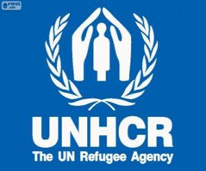 UNHCR logo, United Nations High Commissioner for Refugees puzzle