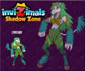 Unicorn. Invizimals Shadow Zone. Timid creatures, unicorns are very difficult to find puzzle