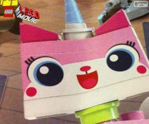 Unikitty, the unicorn kitten of the great adventure of Lego, the film puzzle