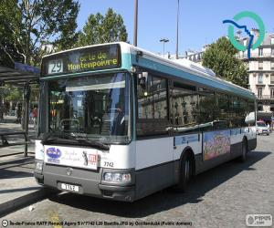 Urban buses of of Paris puzzle