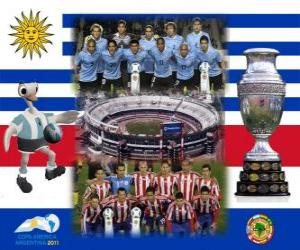 Uruguay vs Paraguay. Final Copa America Argentina 2011. July 24, Stadium Monumental, Buenos Aires puzzle