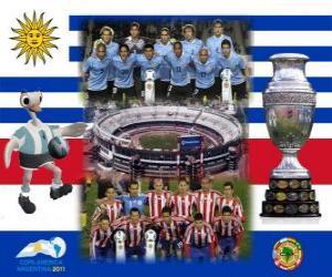 Uruguay vs Paraguay. Final Copa America Argentina 2011. July 24, Stadium Monumental, Buenos Aires puzzle