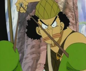 Usopp, shooter of the pirate crew and weapons expert puzzle