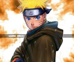 Uzumaki Naruto is the hero of the adventures of a young ninja puzzle
