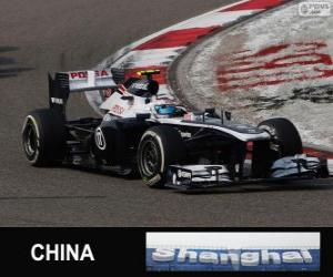 Valtteri Bottas - Williams - Shanghai 2013 puzzle