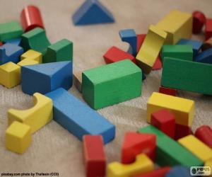 Varied geometric shapes puzzle