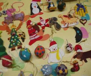 Variety of Christmas ornaments puzzle
