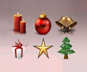 Various Christmas ornaments puzzle