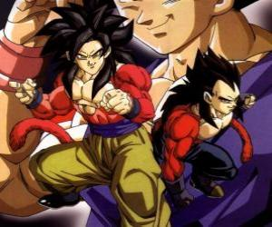 Vegeta, the Saiyan Prince, one of the most powerful race of warriors in the universe. puzzle