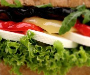 Vegetable sandwich puzzle