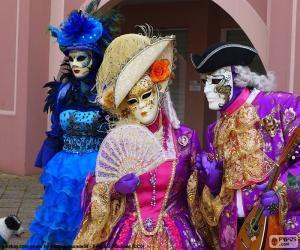 Venetian classic costume puzzle