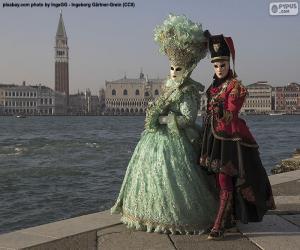 Venice Carnival Couple puzzle