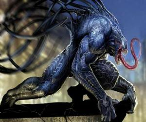 Venom is a symbiote life form and one of the Spider-Man archenemies puzzle