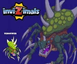 Venomweb. Invizimals. The Venomweb is very rare to see puzzle