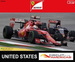 Vettel, 2015 United States Grand Prix puzzle