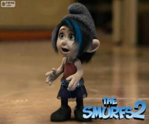 Vexy, the Naughties Smurfette created by the evil wizard Gargamel puzzle