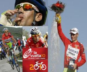 Vicenzo Nibali (Liquigas) champion of the Tour of Spain 2010 puzzle