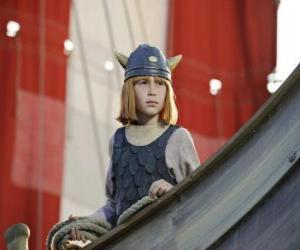 Vicky the Viking in the drakkar or viking puzzle