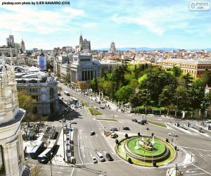 View of Madrid, Alcalá-Gran Vía puzzle