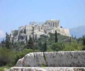 View of the temples of a Greek city puzzle