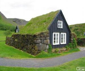 Viking house, Iceland puzzle