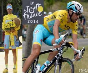 Vincenzo Nibali, champion of the Tour de France 2014 puzzle