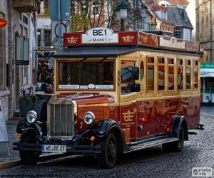 Vintage bus puzzle