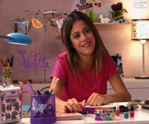 Violetta at his table puzzle