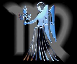 Virgo. The Virgin maiden. Sixth sign of the zodiac. Latin name is Virgo puzzle